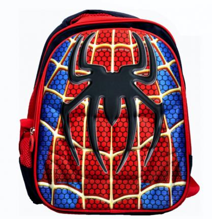 Рюкзак детский KepkaStroy 3D Человек-Паук темно-синий