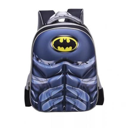 Рюкзак детский KepkaStroy 3D Бэтмен серый