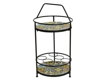 Винный садовый столик АНДАЛУСИЯ, металл, мозаика, 40x76см (Kaemingk)