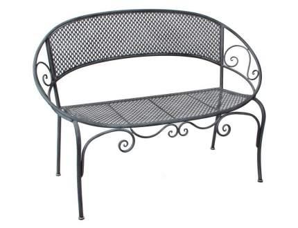 Садовая скамейка АЖУРНЫЙ ПРОВАНС овальная, металл, серая, 124х61,5х87,5см (Edelman)