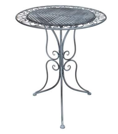 Садовый стол АЖУРНЫЙ ПРОВАНС, металл, серый, 70х60см (Edelman)