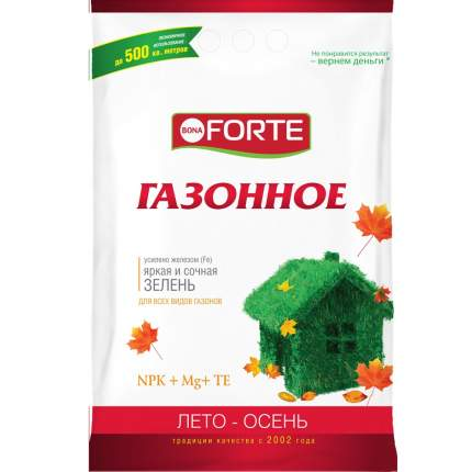 Минеральное удобрение комплексное Bona Forte Газонное лето-осень BF23010461 5 кг