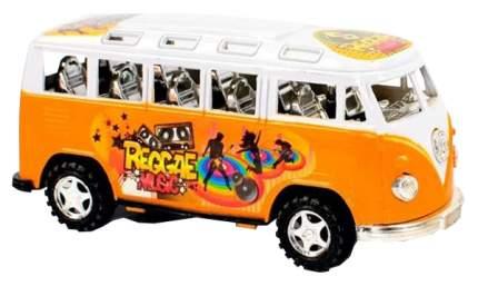 """Машинка пластмассовая """"Автобус"""", 2 шт (красный, оранжевый), в пакете,16,50х7х7 см"""