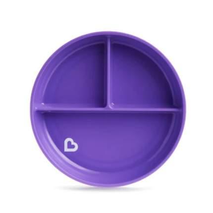 Детская тарелочка порционная на присоске Munchkin фиолетовый, 6м+