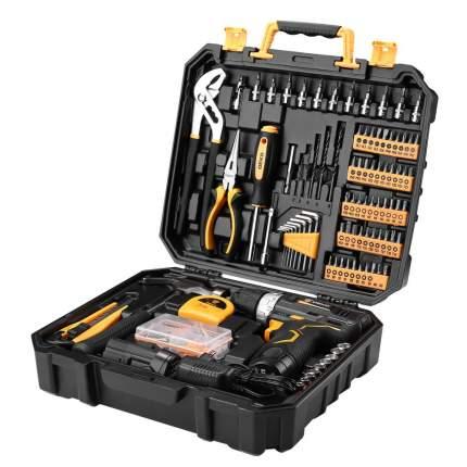 Аккумуляторная дрель 12V DEKO GCD12DU3 + набор 195 инструментов в кейсе 063-4134