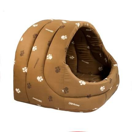 Домик для кошек и собак Дарэлл Лукошко, коричневый, 48x38x42см