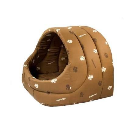 Домик для кошек и собак Дарэлл Лукошко, коричневый, 42x32x36см