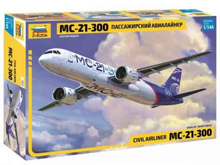 Модель сборная Звезда Пассажирский Авиалайнер МС-21-300