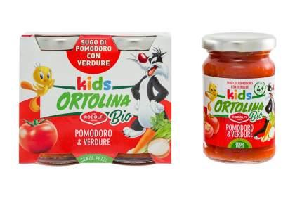 Соус Rodolfi Ortolina Kids Bio  томатный с овощами 2 шт 100 г