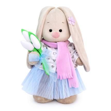 Мягкая игрушка BUDI BASA Зайка Ми с белыми тюльпанами большой