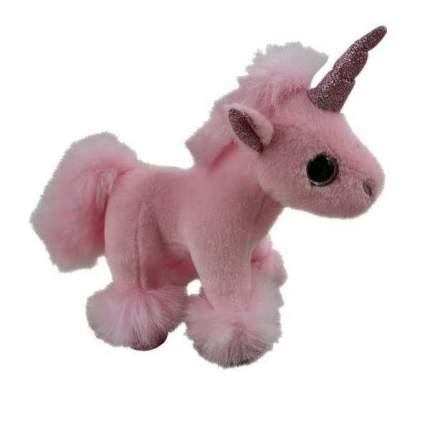 Мягкая игрушка Единорог розовый, 17см