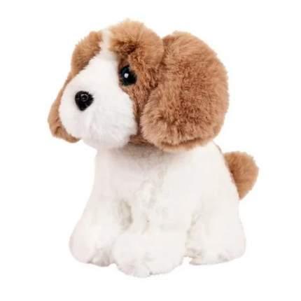 Мягкая игрушка Abtoys Собачка белая с рыжим, 15см