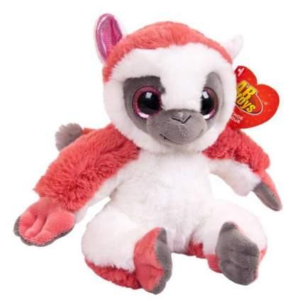 Мягкая игрушка Abtoys Лемур темно-розовый, 17см