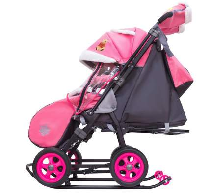 Санки-коляска Galaxy Snow City-1 Мишка со звездой, сумка + варежки