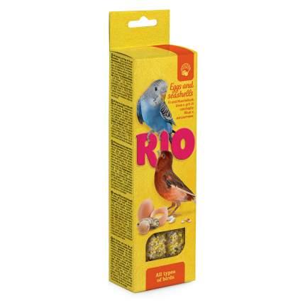 Лакомство для всех видов птиц RIO Палочки с яйцом и ракушечником, 2х40 г