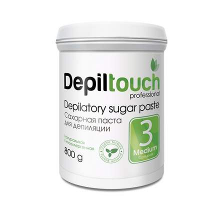 Сахарная паста для депиляции Depiltouch Depilatory Sugar Paste Medium №3 средняя, 800 гр