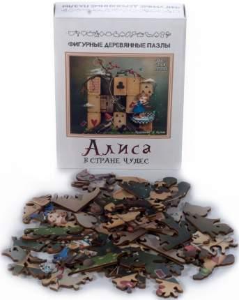 Фигурный деревянный пазл Нескучные Игры Алиса, 48 деталей