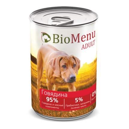 Консервы для собак BioMenu Adult, говядина, 410г