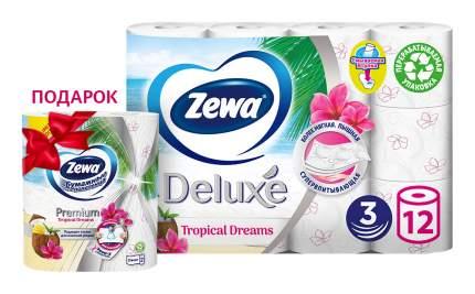 Промо набор Zewa Tropical Dreams туалетная бумага Deluxe 12рул + полотенца в подарок!