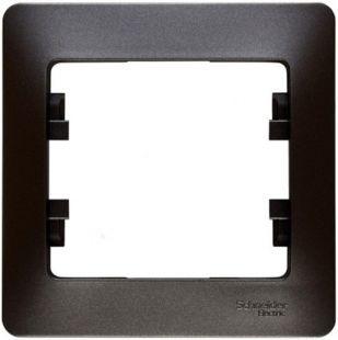Рамка Schneider Electric Glossa 1-ая Графит