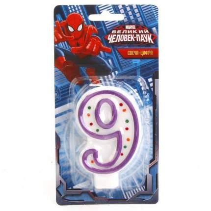 Свеча-цифра Веселый праздник 9 Человек-Паук