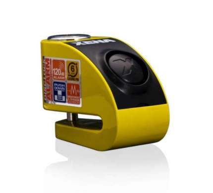 Замок на диск с сиреной Xena XZZ6L Yellow (Желтый)