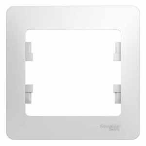 Рамка Schneider Electric Glossa 1-ая Белая