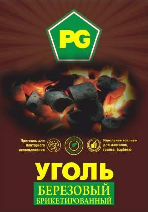 Уголь березовый брикетированный PG, 10 кг