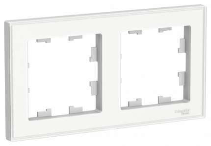Рамка Schneider Electric AtlasDesign Art 2-ая Белая