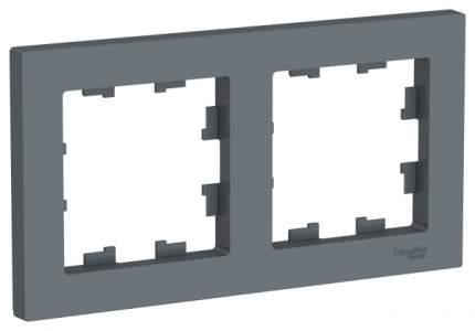 Рамка Schneider Electric AtlasDesign 2-ая Грифель
