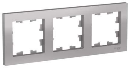 Рамка Schneider Electric AtlasDesign 3-ая Алюминий