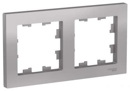 Рамка Schneider Electric AtlasDesign 2-ая Алюминий