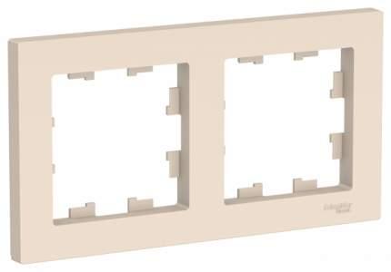 Рамка Schneider Electric AtlasDesign 2-ая Бежевая