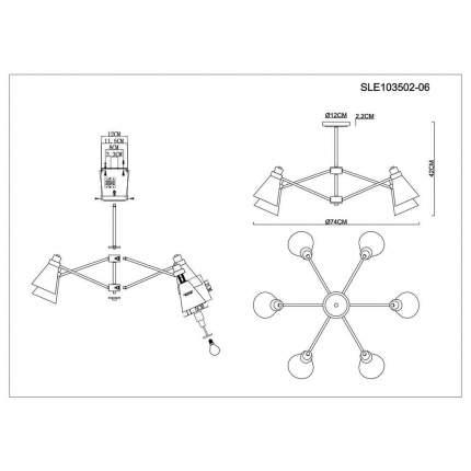 Потолочная люстра Evoluce Biane SLE103502-06