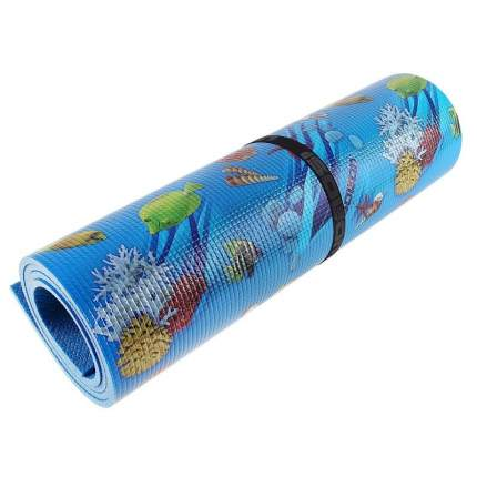 Коврик для йоги и фитнеса Isolon Decor разноцветный/синий 8 мм