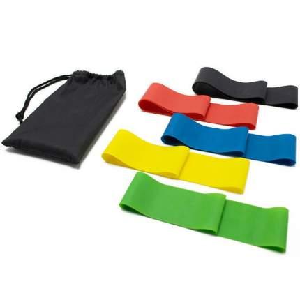 Набор эспандеров ленточных Fit Simplify 5 штук с мешочком