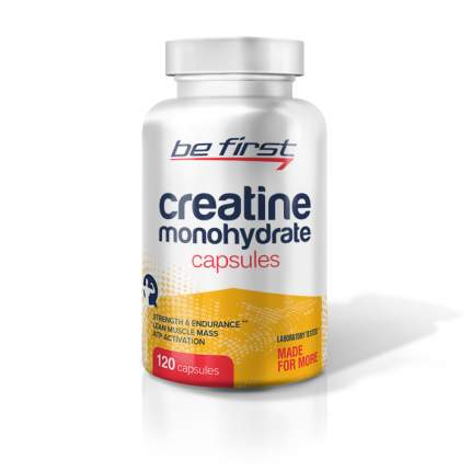 Be First Creatine Monohydrate Capsules 120 капсул без вкуса
