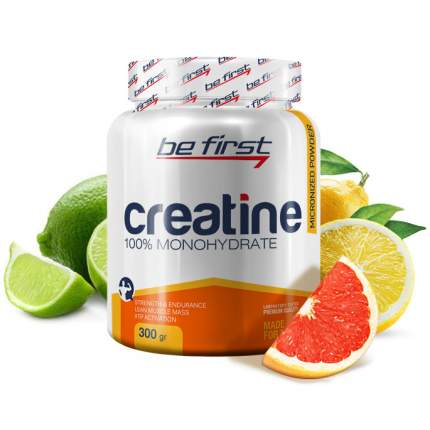 Креатин Be First Micronized Creatine Powder, 300 г, цитрусовый микс