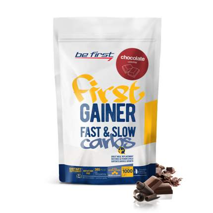 Гейнер Be First Gainer Fast & Slow Carbs, 1000 г, chocolate