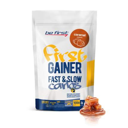Гейнер Be First Gainer Fast & Slow Carbs, 1000 г, caramel