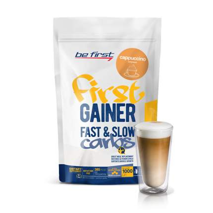 Гейнер Be First Gainer Fast & Slow Carbs, 1000 г, cappuccino