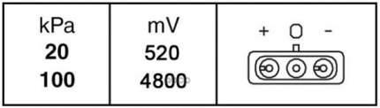 Датчик давления во впускном газопроводе Behr-hella  6PP009400-221