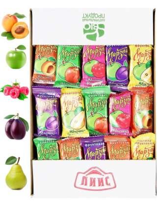 ЛИИС / Натуральная фруктовая пастила из сочных яблок, без сахара, ассорти вкусов, 1 кг
