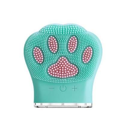 """Очищающая щетка для лица """"Кошачья лапка"""" Meiu Facial Cleansing Brush Cat Claw (Бирюзовый)"""