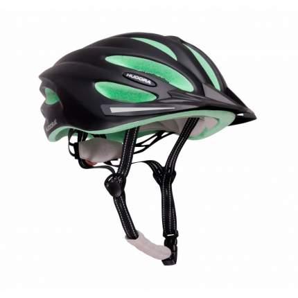 Велосипедный шлем Hudora 8415, черно-зеленый, M