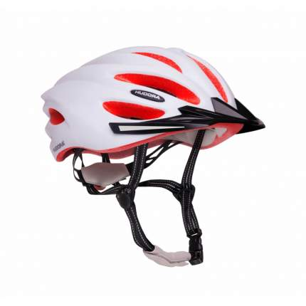 Велосипедный шлем Hudora 8415, бело-коралловый, M