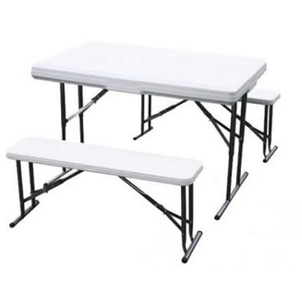 Набор складной мебели, стол, 2 скамьи Green Glade, B113