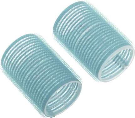 Набор бигуди-липучек Dewal Beauty диаметр 28 мм, длина 63 мм (10 штук) голубые