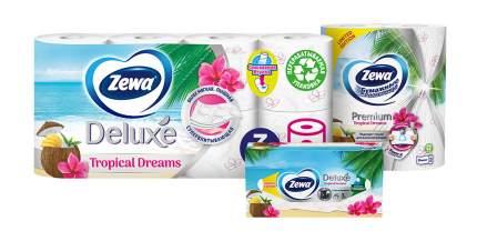 Промо набор Zewa Tropical Dreams туалетная бумага 8рул, полотенца 2рул, салфетки 90шт