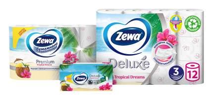 Промо набор Zewa Tropical Dreams туалетная бумага 12рул, полотенца 4рул, салфетки 90шт